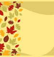 falling autumn leaves template design vector image vector image
