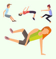 fitness sport parkour people concept young person vector image vector image