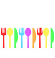 fork spoon and knife time to eat concept stock vector image vector image