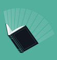 Glowing Book vector image
