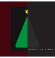 greeting card Christmas halved green tree vector image