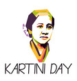 greeting for kartini day woman hero from vector image vector image