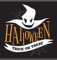 halloween trick or treat logo sign vector image
