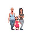 happy three generations family celebrating women vector image vector image