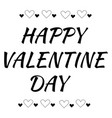 happy valentines day on card with hearts frame on vector image vector image