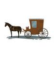 horse pulling carriage vintage transport vector image