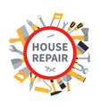 house repair and remodeling background with vector image