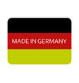 icon made in germany vector image vector image
