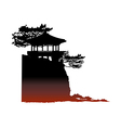 icon scenery vector image