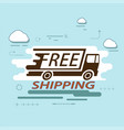 icon truck cargo delivery vector image