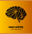 neuro activity brain vector image