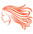 orange hair vector image vector image