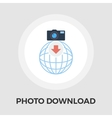 Photo download flat icon vector image vector image