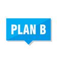 plan b price tag vector image vector image