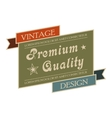 premium quality vintage banner vector image
