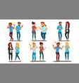 quarrel people set concept office workers vector image vector image