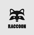 raccoon face logo vector image