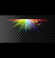 rainbow glowing light vector image vector image