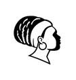 rasta empress or rastafari woman side view black vector image vector image