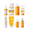 realistic detailed 3d sunscreen moisturizer lotion vector image vector image