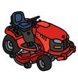 Red garden mower vector image vector image