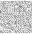 seamless finger print black and white macro vector image vector image