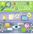 Search for Solution Data Analysis Working Project vector image vector image