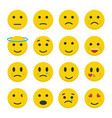 set emoticons icons in flat style vector image
