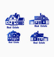 set icons real estate icons of vector image
