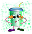 soda drink character cartoon vector image vector image