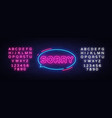 sorry neon text design template sorry neon vector image vector image