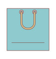 square shopping bag icon with handle in colorful vector image vector image