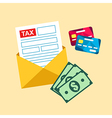 Tax mail bill vector image vector image