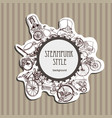 template steampunk design for card frame vector image vector image