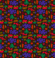 The pattern of colored spots vector image vector image