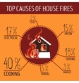 Top causes of house fires Infographics vector image vector image