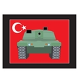 Turkey military coup Tank against the background vector image vector image