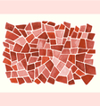 Watercolor red pattern vector image vector image