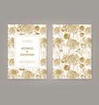 wedding invitation with golden japanese vector image vector image