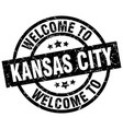 welcome to kansas city black stamp vector image vector image