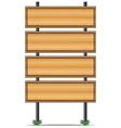 Wooden empty signboards vector image vector image