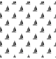 Yacht with sails pattern simple style vector image vector image