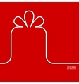 Present with ribbon bow vector image