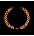 Wreath of wheat ears vector image