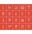Drinks sketch icon set vector image