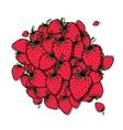 Strawberry frame sketch for your design vector image