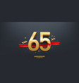 65th year anniversary background vector image