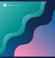 abstract background green blue pink color vector image vector image