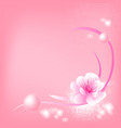 abstract colorful background with sakura and vector image