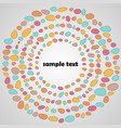 abstract with color dots vector image